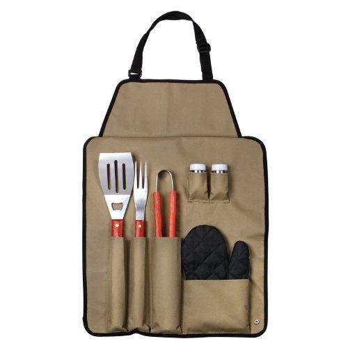 Chefs Kitchen 82-4308 7-Piece Outdoor BBQ Apron And Utensil Set Outdoor, Home, Garden, Supply, Maintenance