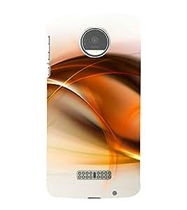 Orange Fluid Pattern 3D Hard Polycarbonate Designer Back Case Cover for Motorola Moto Z :: Motorola Moto Z Droid in USA