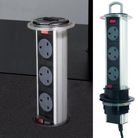 Powerdock Worktop Pull Up Power Sockets