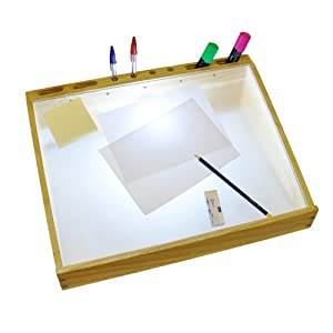 Modern a3 natural wood hobby craft daylight light box for Lightbox amazon