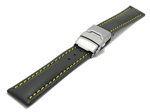 meyhofer-uhrenarmband-milas-24mm-schwarz-leder-glatt-gelbe-naht-titan-faltschliesse-myhekslb88-24mm-