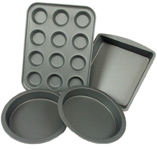 """2 x George Wilkinson Progress 20cm 8/"""" Teflon Non Stick Round Deep Cake Tin Pan"""