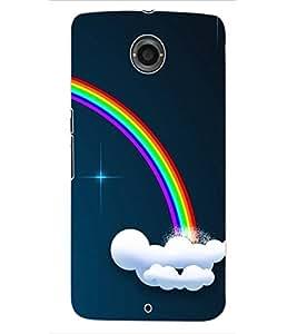 ColourCraft Rainbow Pattern Design Back Case Cover for MOTOROLA GOOGLE NEXUS 6