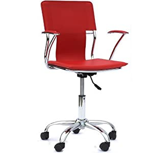 Amazon.com - LexMod Studio Office Chair in Red Vinyl - Desk Chairs