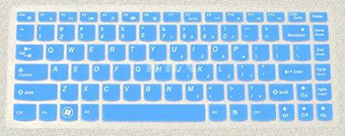 Folox Soft Silicone Keyboard Protector Cover Skin For Lenovo Ideapad Y400 Y400N Y410 Y410P Y430P Y470 Y471 Y480 Y485 Z360 Z370 Z380 Z410 Z460 Z465 Z470 Z475 Z480 Z485 Flex 14 (Blue)