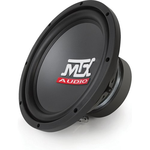 Road Thunder series 15-Inch Single 4-Ohm Round Subwoofer (Black)