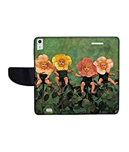 KolorEdge Printed Flip Cover For Gionee Elife S5.5 Multicolor - (50KeMLogo09638GioneeS5.5)
