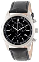 Lucien Piccard Men's LP-11570-01 Eiger Chronograph Black Dial Black Leather Watch by Lucien Piccard