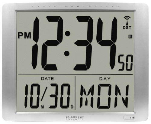 La Crosse Technology 515-1316 Super Large 16 Inch Atomic Digital Wall Clock