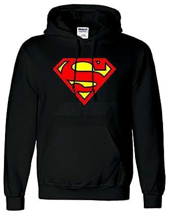"""SnS Mens Boys Womens Ladies Girls Unisex Superman Comic Super Hero Hoodies Hooded Sweatshirt Pullover Hoodie Sweat Hoody Casual Sports - Sports Grey - S - Chest : 34"""" - 36"""""""