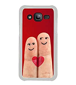 Smiley Fingers 2D Hard Polycarbonate Designer Back Case Cover for Samsung Galaxy J2 J200G (2015) :: Samsung Galaxy J2 Duos :: Samsung Galaxy J2 J200F J200Y J200H J200GU