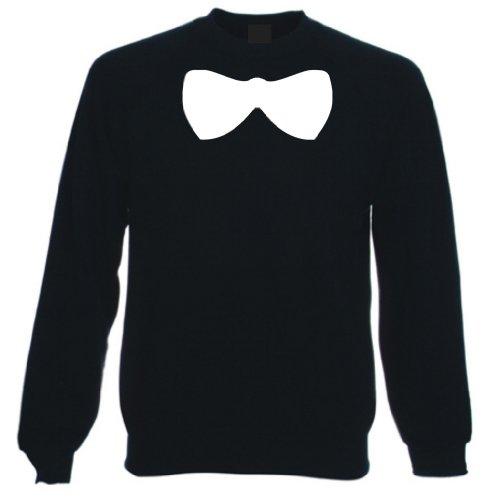 Bow Tie - Large Cartoon Style - Sweatshirt Sweater Jumper, Mens, Black, XX Large