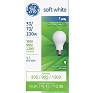 GE Lighting 97493 3-Way Light Bulb-30/100W SW 3-WAY BULB