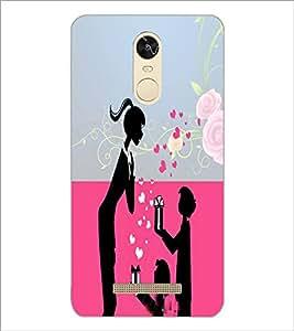 PrintDhaba Love D-4985 Back Case Cover for XIAOMI REDMI NOTE 3 PRO (Multi-Coloured)