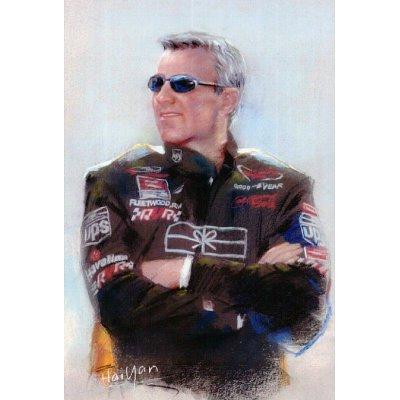 Dale Jarrett Nascar PRINT POSTER Racing espn UPS RARE - 11x17