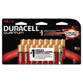 Quantum Alkaline Batteries with Duralock, AA, 16/Pk