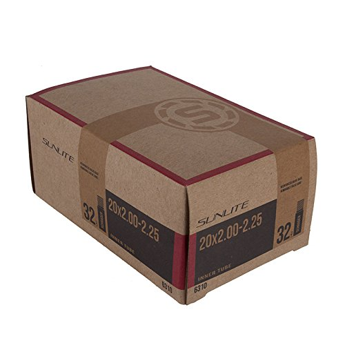 Sunlite Standard Schrader Valve Tubes, 20 x 2.00 - 2.25