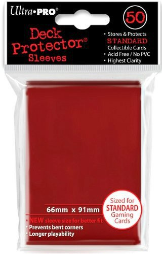 Standard Sized Sleeves 50 Count Red Ultra Pro Deck Protectors x3
