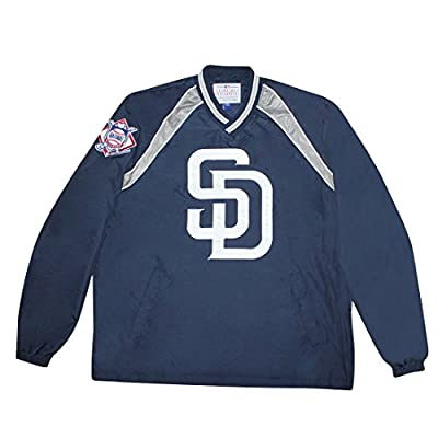 BIG & TALL SAN DIEGO PADRES MLB Mens Athletic Wind Breaker Jacket with Lining