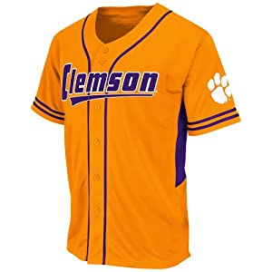 NCAA Clemson Tigers Men's Bullpen Baseball Jersey, Medium, Clemson Orange