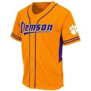 NCAA Clemson Tigers Men's Bullpen Baseball Jersey, Medium, Clemson Orange