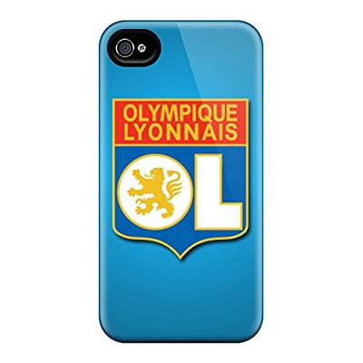 Quality AMGake Case Cover With Olympique Lyonnais Nice Appearance Compatible With Iphone 4/4s