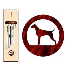 Weimaraner Wind Chimes X-SMALL Silver