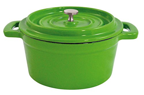 Paderno World Cuisine Mini Green Enamel Dutch Oven, 9-Ounce (Small Green Dutch Oven compare prices)