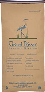 Great River Organic Milling Organic Specialty Flour All Purpose Whole Wheat, 50-Pounds