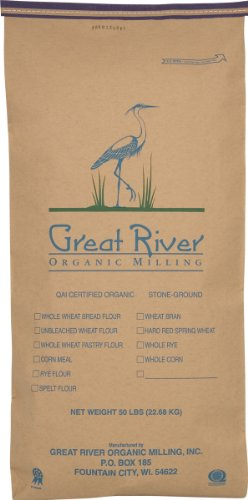 Great River Organic Milling Organic Whole Grains Brown Flax Seed, 50-Pounds