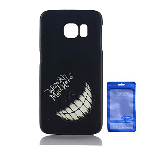 Galaxy S6 Edge Case, Creative Artistry Customized Funny PC Hard Back Cover Case for Samsung Galaxy SVI Edge (We are All Mad Here)