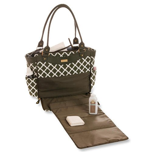 carters convertible tote diaper bag green white diamond luggage bags bags. Black Bedroom Furniture Sets. Home Design Ideas