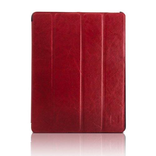 Mobiletto iPad 4 Hülle / iPad 3 Hülle MUSTANG Smartcover DELUXE Ledercase Lederhülle Ledertasche Hülle - Rot