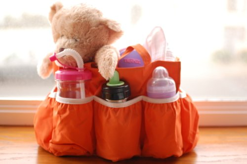 Diaper Bag Insert Organizer (Orange)