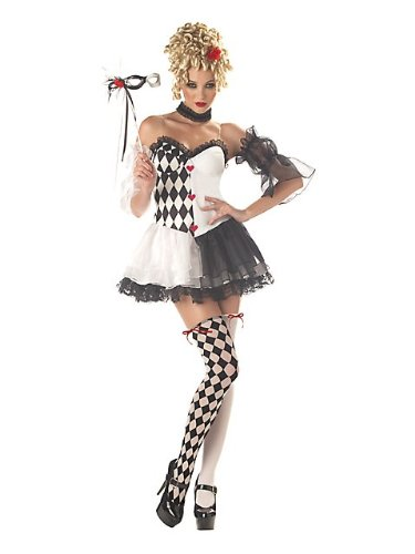 California Costumes Women's Le Belle Harlequin Costume