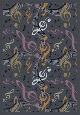 "Joy Carpets Kid Essentials Music & Special Needs Virtuoso Rug, Gray, 10'9"" x 13'2"""