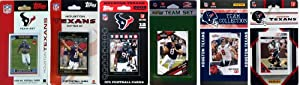 NFL Houston Texans Six Different Licensed Trading Card Team Sets by C&I Collectables