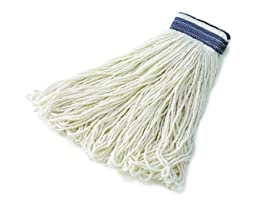 Rubbermaid Commercial FGE43900WH00 Universal Headband Wet Mop Head, Rayon, 32-ounce, White
