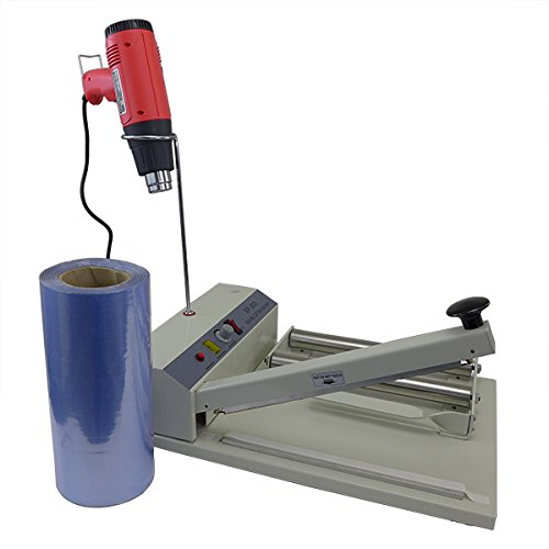 """Easyway 12"""" Shrink Wrap Machine Complete System (Include Heat Gun And 500 Feet Shrink Tubing Film"""