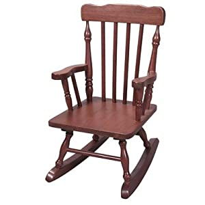 Gift Mark Childs Colonial Rocking Chair Cherry by Gift Mark