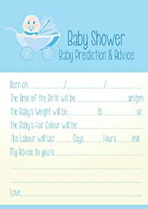 baby shower prediction and advice game blue boys office