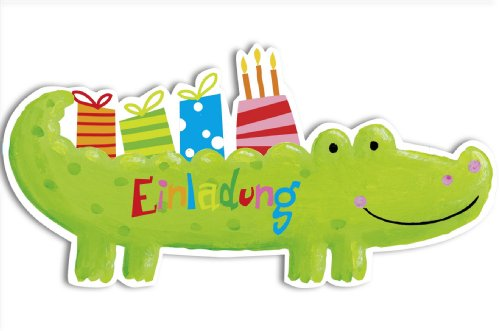 Einladung kindergeburtstag krokodil er set amazon