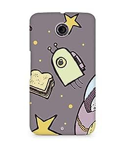 Amez designer printed 3d premium high quality back case cover for Motorola Nexus 6 (cute space doodles star )
