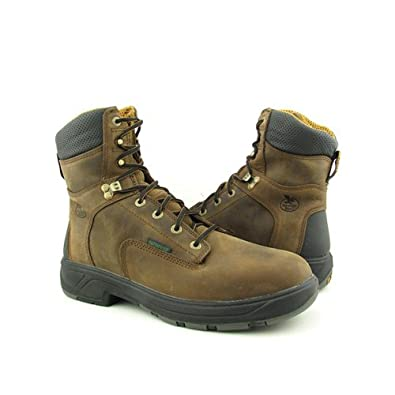 "Men's Georgia 8"" WP Flex Point Work Boots BROWN 8 W"