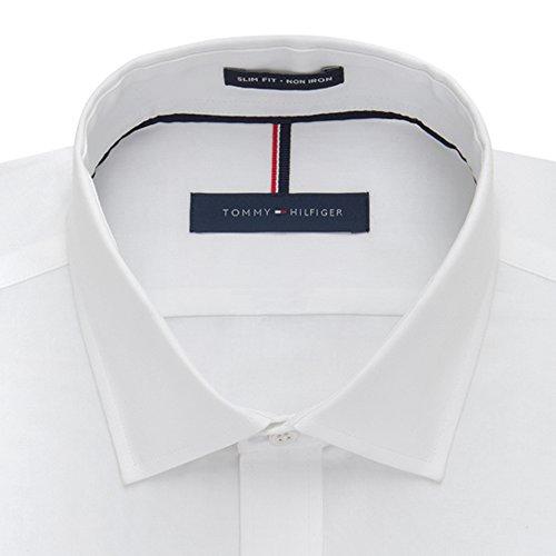 토미 힐피거면 100 % LS 슬림 맞추기 비 철 남성 드레스 셔츠/Tom..