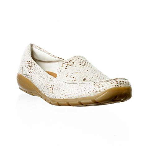 Easy Spirit Abide Womens Size 11 Ivory Leather Loafers Shoes