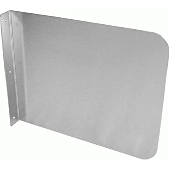 Wall mount stainless steel splash guard 15 x12 for hand for Splash guard kitchen sink
