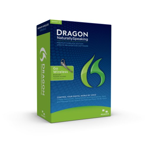 Dragon NaturallySpeaking Premium 12 Bluetooth (Wireless), English