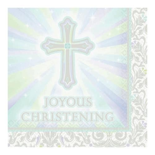 Joyous Celebration Christening Beverage Napkins - 16 Napkins