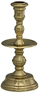 Brass & Silver Traditions Plantation Thin Taper Candlestick